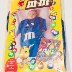 M&M's Baby Bunting Halloween Blue Size 0-9 Months
